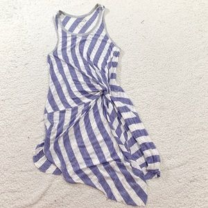 We the free striped knot front sleeveless dress